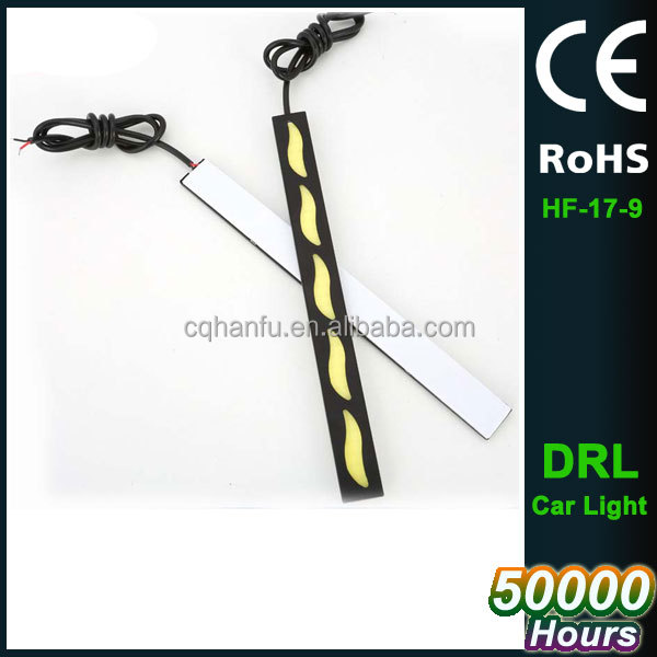 2pcs LED daytime running turn signal light Bendable Led Car DRL Driving Lamp Waterproof COB Day Time Lights
