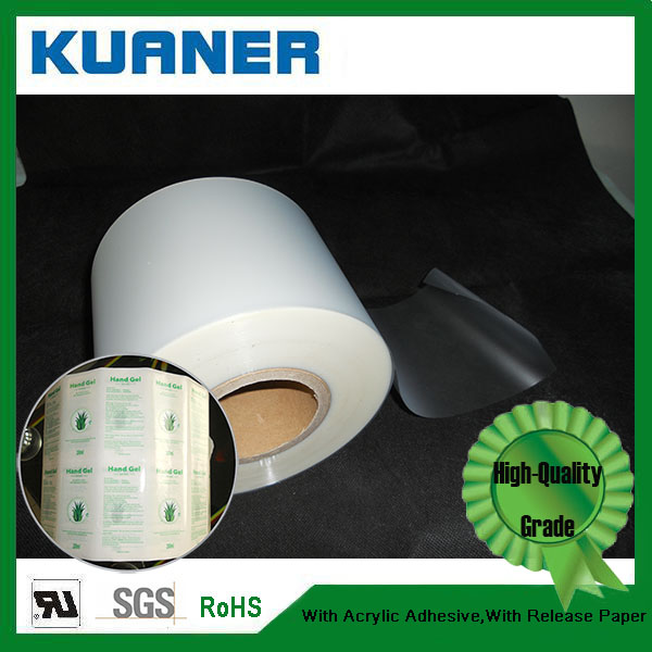 Polypropylene self adhesive blank labels material