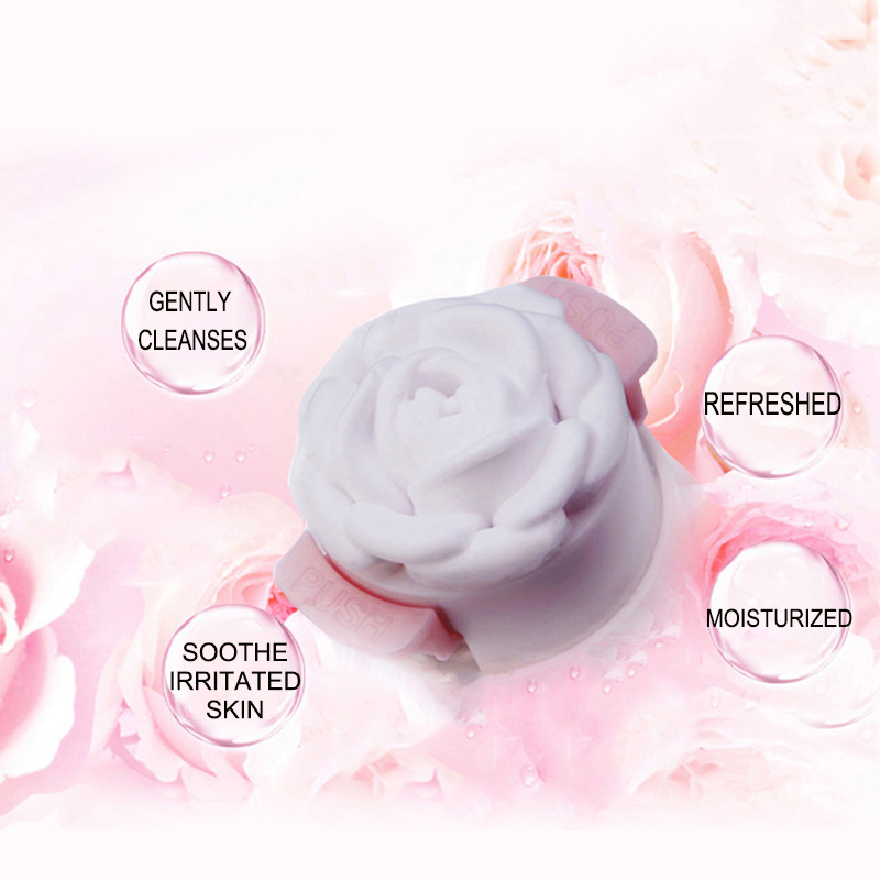 wholesale Gentle Organic rose Skin Face Wash Facial Foam Cleanser