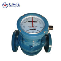 Mechanical six digits totalized oil flow meter