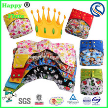 happy flute cloth diaper AIO reusable hybrid nappy washable bamboo diaper wholesale