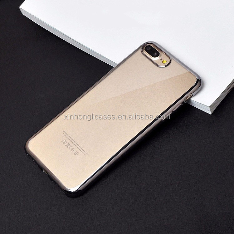 New Arrival Plating electroplating tpu phone case for iphone 7