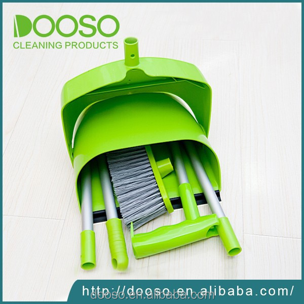 Household cleaning broom and dustpan set