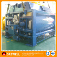 MAO3000 large capacity hydraulic double shaft Sicoma precast concrete mixer