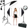 5 lamp socket softbox lighting kit photo studio with muslin backdrops photography kit