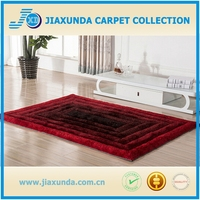 3D plain color long pile thick fluffy sofa table underlay home decor polyester shaggy carpet