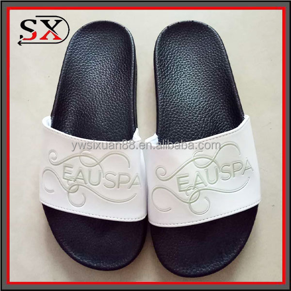 2017 custom logo PVC very soft men house slippers wholesale