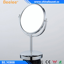Beelee 8 Inch Brass Pedestal Mirror Salon Smart Cosmetic Miroir De Table