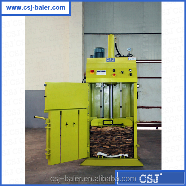 CE Certificate baler hydraulic verticle small trash compactor