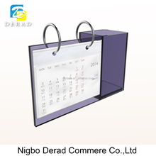 Acrylic Desktop Table Calendar with Pen Holder