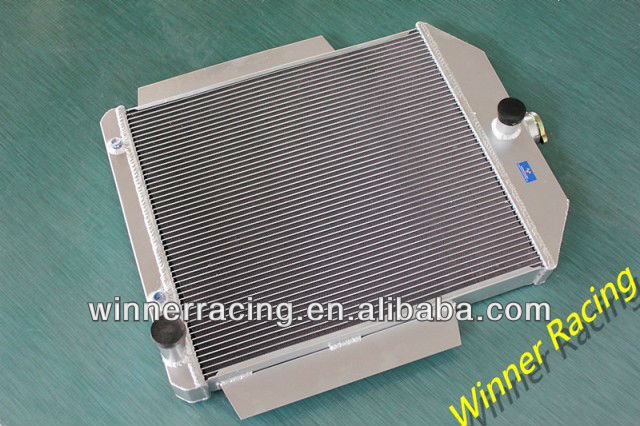 Hi-perf. high alloy aluminum radiator for Ford F1-F8 TRUCK/PICKUP 48-52 W/CHEVY L6/V8 MOTOR SWAP AT