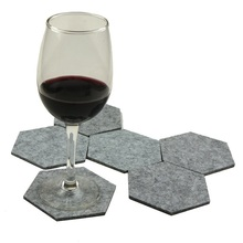 Felt cup cushion 5 mm pentagon drink coaster for sale