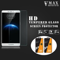 Best price wholesale cell phone accessories anti shock tempered glass screen protector for OPPO R9/R9 plus