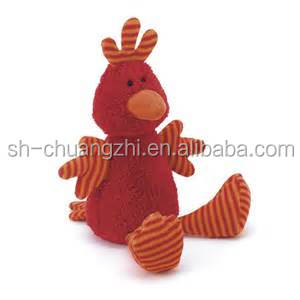 stuffed red rooster toy for kids