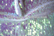 NET SPANGLE EMBROIDERY FABRIC