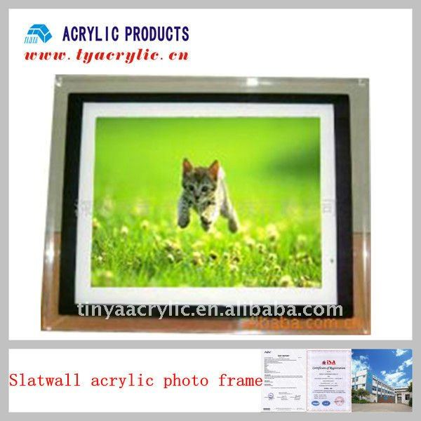 Acrylic slatwall photo frames designs