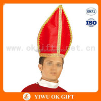 Non woven red church hat, designer church hats