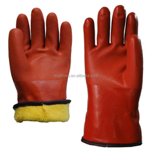 30cm brown sandblasted cashmere low temperature protective gloves