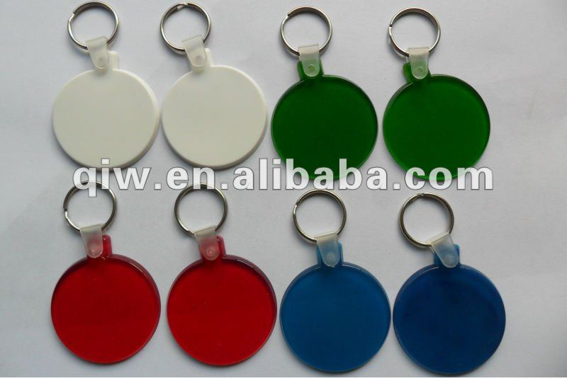 promotional cheap acrylic plastic key chain blank keyring/keychain vners brand/Wholesale keyring