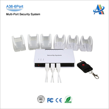 6 Ports Anti-theft Alarm Device for Cell phone, Tablet PC, Laptops, etc.