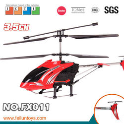 FX011 2.4G 3.5ch metal rc helicopter with hook with gyro and lights