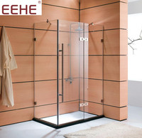 bathroom sliding screen glass door shower cabin with sealing strip