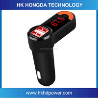 Portable Dual USB Auto Car Kit Wireless Bluetooth Hands Free Calling MP3 Player FM Transmitter Car Charger