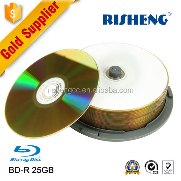 RISHENG glossy printable bd bdr bluray disc bd-r 4x/6x/cheapest blu ray dl 50gb/Bd R 50Gb