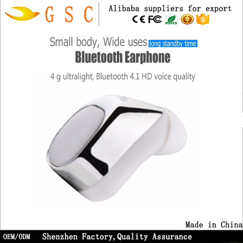 Free sample mini single wireless <strong>Bluetooth</strong> 4.1 amazon best sellers Stereo Earbud Universal mini headset