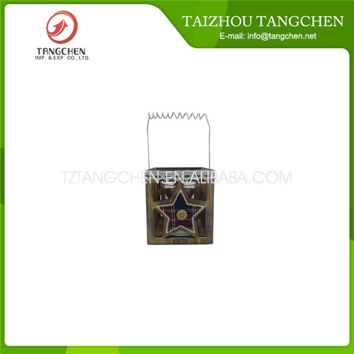 Christmas decorative wooden lantern
