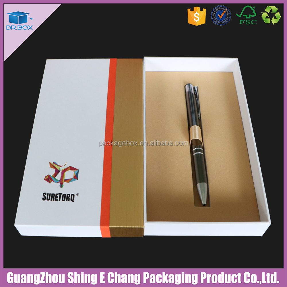Pen SET Gift Box with foam inner support Cardboard Drawer Sleeve Pen Set Gift Box/Cardboard Pen Set Gift Box