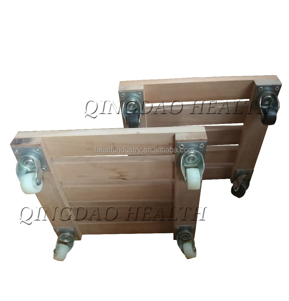 Square wooden moving dolly