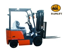 electric forklift truck triple mast
