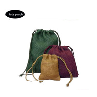 hot sale natural color linen pouch jute gift bag