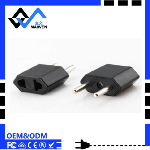 High quality Wholesale US to Europe Type Convert Plug adapter with CE ROHS