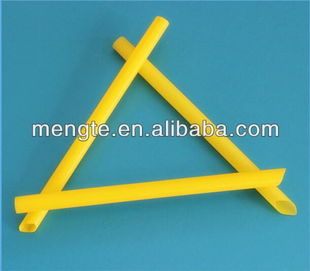 yiwu yellow plastic disposable big pearl Milk Tea Drinking Straws