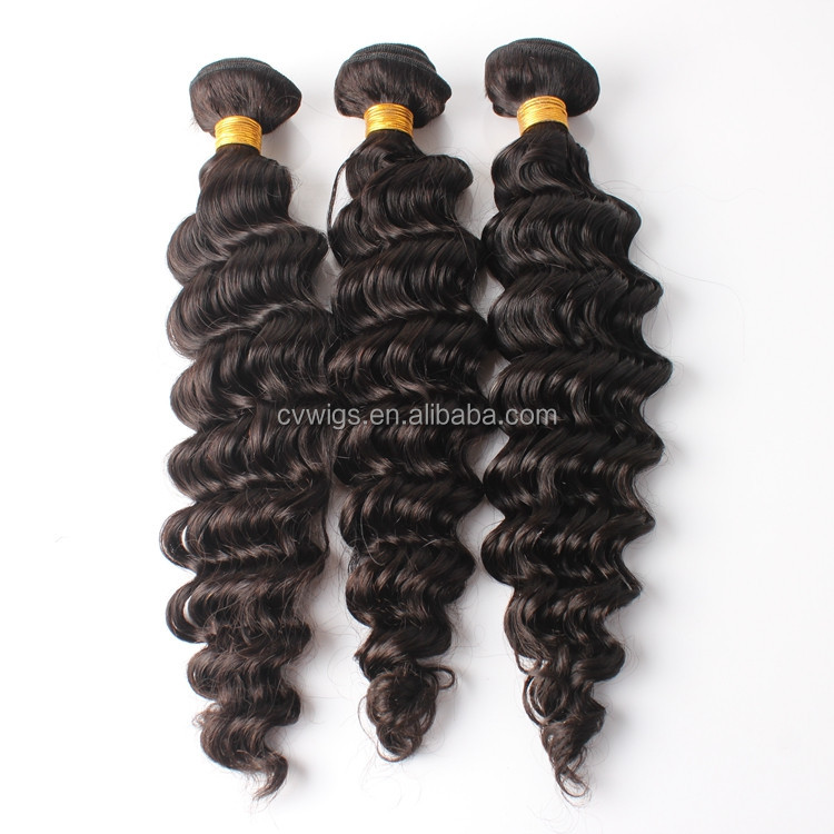 Large stock fashion style high quality 14 to 24 inch deep wave brazilian human hair