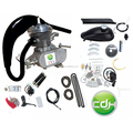 CDH black CDH66 muffler with Super PK80 and racing head 2 stroke bicycle engine kit