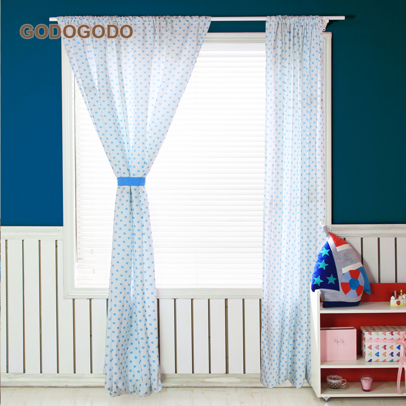 Polyester Cotton Colourful Round Window Curtains Wholesale Shower / Air / Blackout Curtains Fabric for living Room / Kitchen