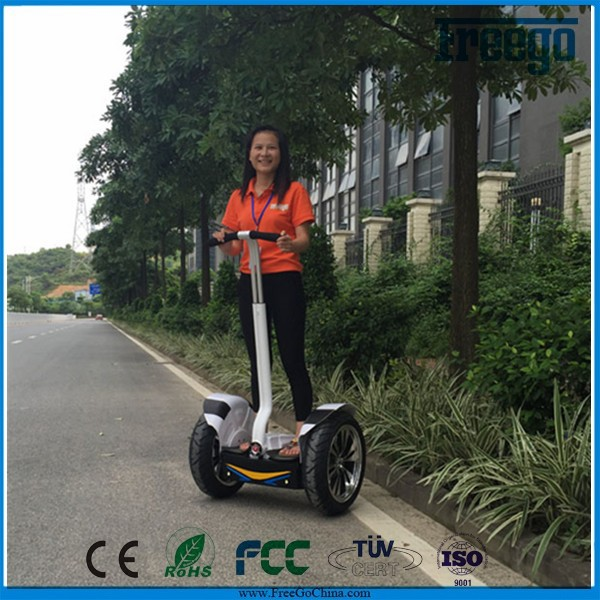 China Electric Chariot Scooter Freego 72V lithium battery self balance 2 wheel electric standing scooter