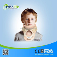 OL-CO802A Kid Medical Cervical collar Support Bracewith Trachea opening