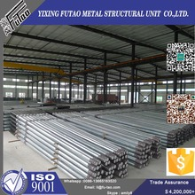 11M Direct Buried Galvanized Utility Pole Steel Poles