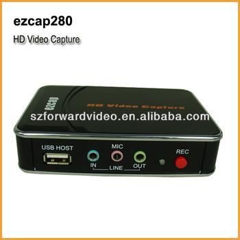 HD Game Capture 1080P HDMI/YPbPr Recorder into USB disk-ezcap280