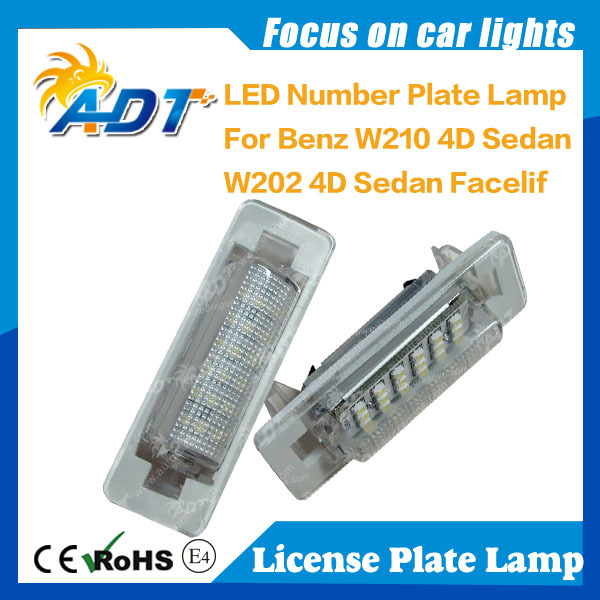 For Mercedes For Benz W210 W202 LED Number License Plate Light Auto Parts Car Accessories