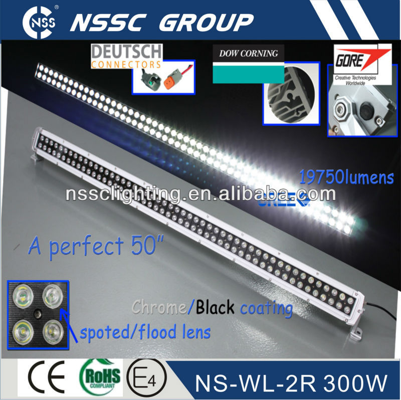 2013 NSSC HOT!!!! super bright,waterproof, 50inch,300W Cree led offroad light bar 10 years experience for off road light bar
