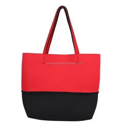 Neoprene Color Matching Handbag / Shopping case / Grocery sleeve/ Tote Bag