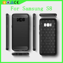 Hot selling 2mm Soft TPU Wire drawing phone cover for Samsung galaxy S8 Case
