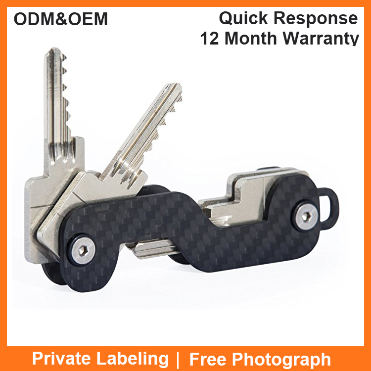 Smart Key Organizer Smart Compact Key Holder Carbon Fiber key Chain Carbon Fiber Key Holder