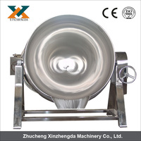 Stainless Steel Steam Jacketed Kettle/ Steam Tilting Cooking Pan 0086+15202132239