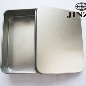 Hot sale square small size putting business card metal tin box